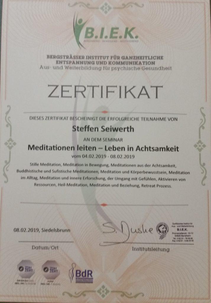 Meditationstrainerausbildung